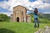 adoring Santa Cristina de Lena church