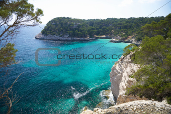 coastline at Menorca south side