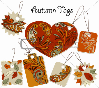 Vector Autumn Tags
