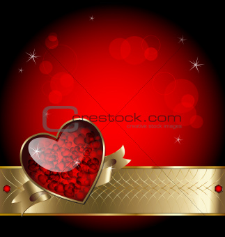 Luxurious background with heart