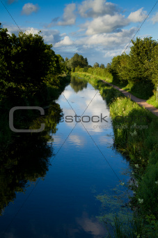 Bridgwater and Taunton Canal in Somerset England