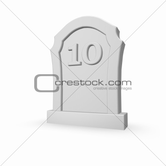 number ten on gravestone