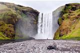 Waterfall Skogafoss, Iceland