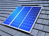 solar-cell array on roof
