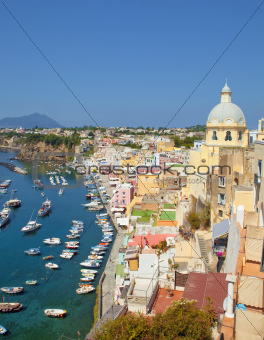 Marina Corricella, Procida Island, Bay of Naples, Campania, Italy