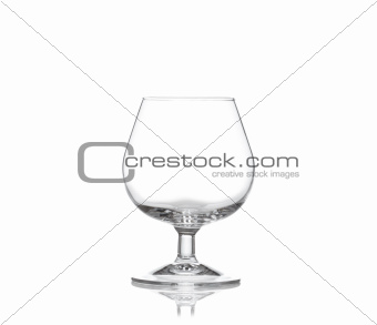 cognac glass isolated on white background
