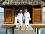 Happy mature couple in spa resort