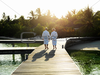 Couple at spa holiday resort