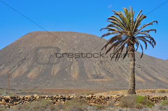 Tindaya Mountain in La Oliva, Fuerteventura, Canary Islands, Spain