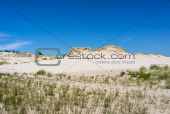 Dunes in Slowinski national park. Leba, Poland