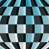 Black-blue-white checkered pattern