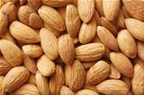 Closeup of many almand nuts