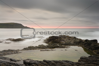 Seascape, View to Stepper Point, Polzeath, Cornwall.
