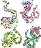 Funny chinese dragons