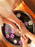 Relaxing foot spa
