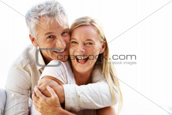 Smiling mature couple having a good time