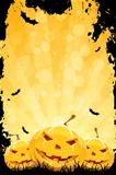 Grungy Halloween Background with Pumpkins