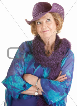 Grinning Senior Lady