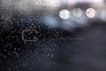 drops of rain on window