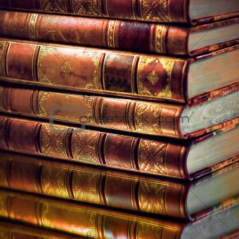 Heap of vintage books