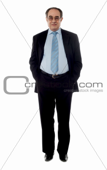Full-length view of a company manager