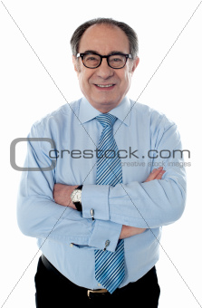 Portrait of smiling matured businessperson