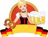 Oktoberfest girl design