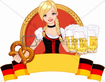 Oktoberfest girl design
