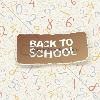 Back to school on chaotic numbers seamless pattern. Vector, EPS1