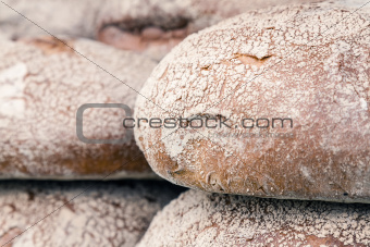 round loaves of bread