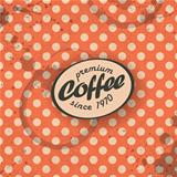 Coffee themed retro background, vector. EPS10