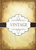 Vintage background with ornamental frame. Vector illustration