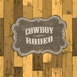 Wild west background on seamless wooden texture.