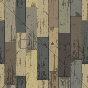 Wooden multi-color planks. Seamless pattern, vector illustration