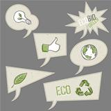 Ecology icons in speech bubbles. Vector elements collection, EPS