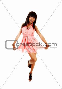 African girl dancing.