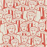 Abstract crowd of businessmen