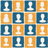 Portraits of many people. Social network concept illustration.