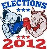Democrat Donkey Republican Elephant Mascot 2012