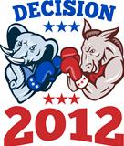 Democrat Donkey Republican Elephant Decision 2012