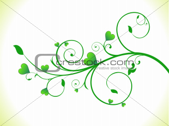 abstract green eco heart plant