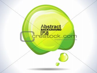 abstract green shiny banner template