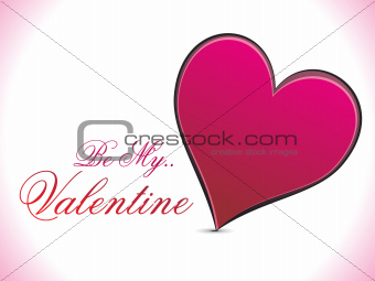 abstract red heart valentine concept