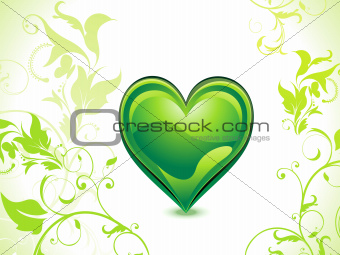abstract green eco heart