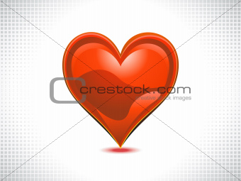 abstract shiny red heart