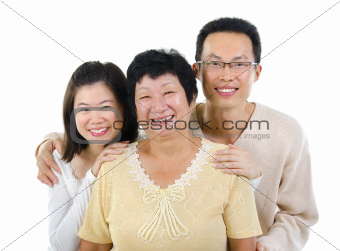 Asian family