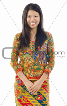 Asian woman in batik