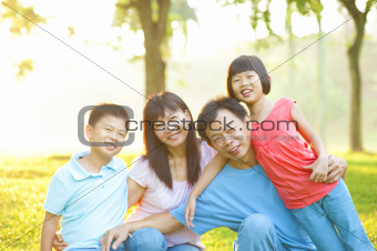 Asian Family Outdoor Lifestyle
