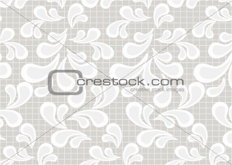 Paisley on light beige background