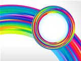 abstract colorful rainbow circle background